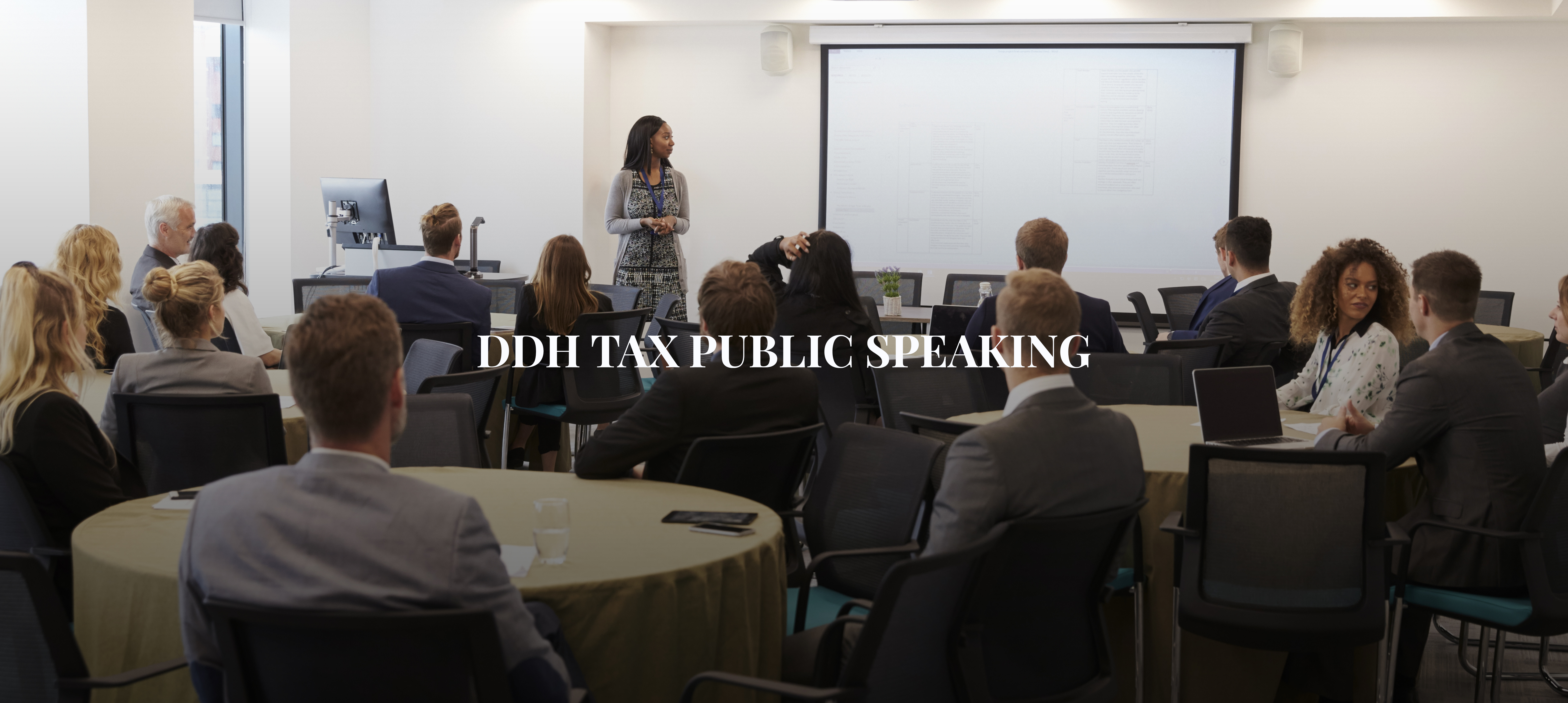 Public Speaking and Speakers Bios at DDH Tax