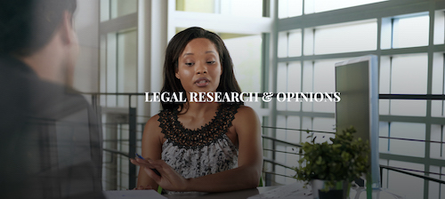 Legal Research and Opinions