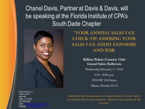 Florida Institute of CPA's South Dade Chapter - 2.17.16