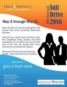 6th Annual Suit Drive 2016