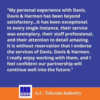 DDH Testimonial Review From G.C. Telecom Industry sales tax service partnership