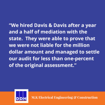 DDH Tax Testimonial Review sales tax audit proof work consultant for hire